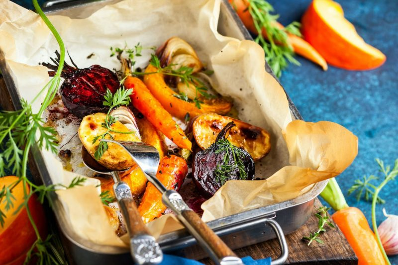Clapshot Oven Roasted vegetables