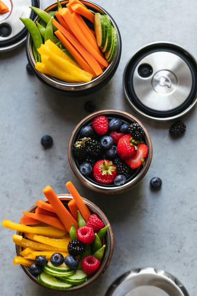 Berries and Vegetables snacks
