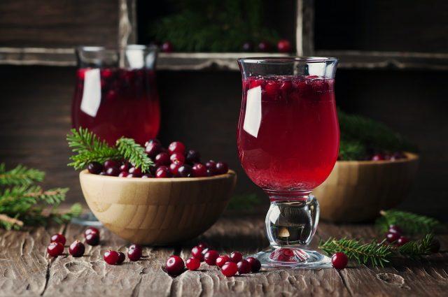 Red cranberry juice