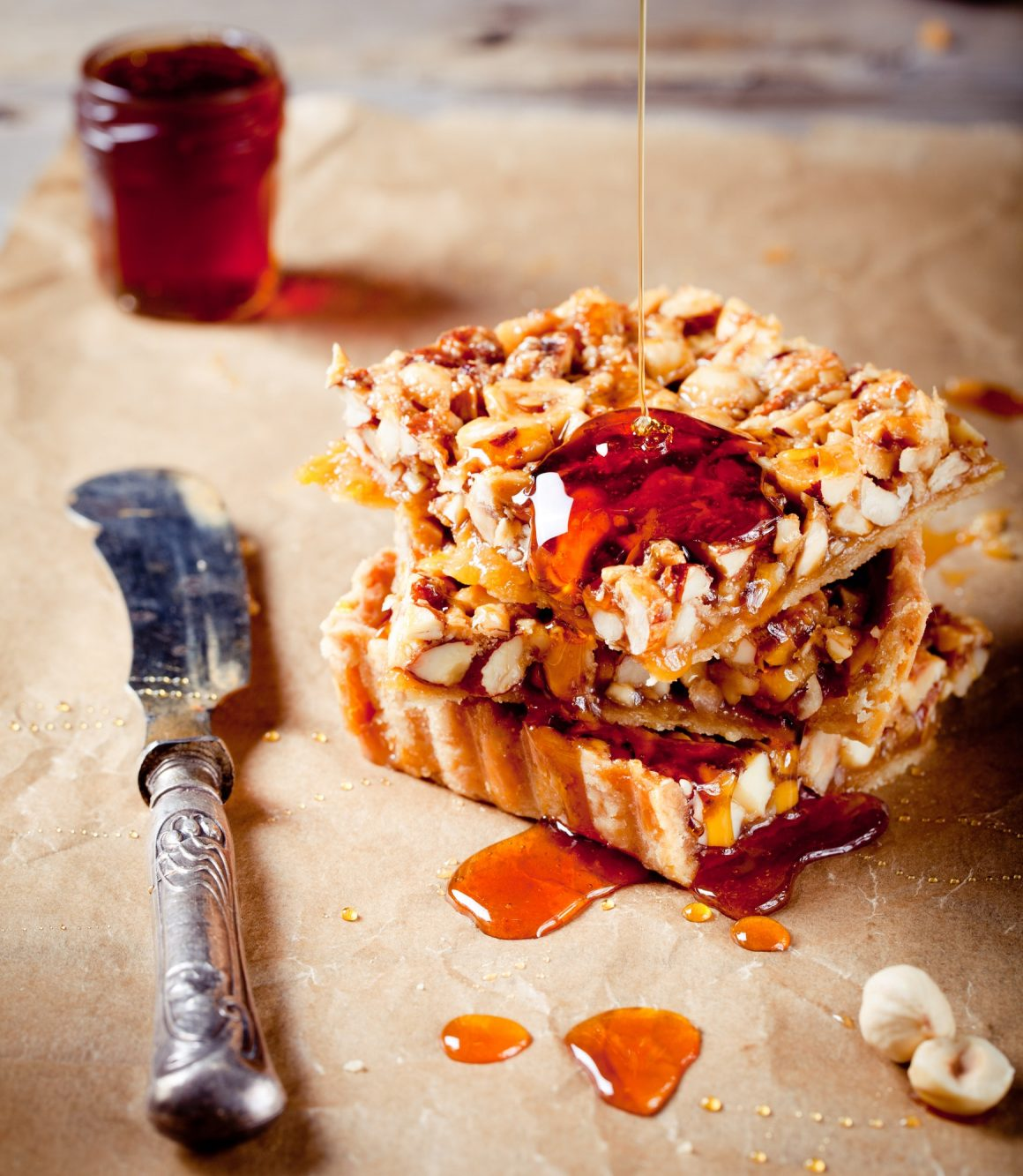 Nut Maple Caramel Tart