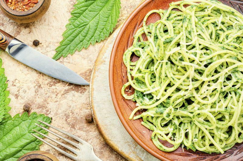 Pasta with sauce pesto
