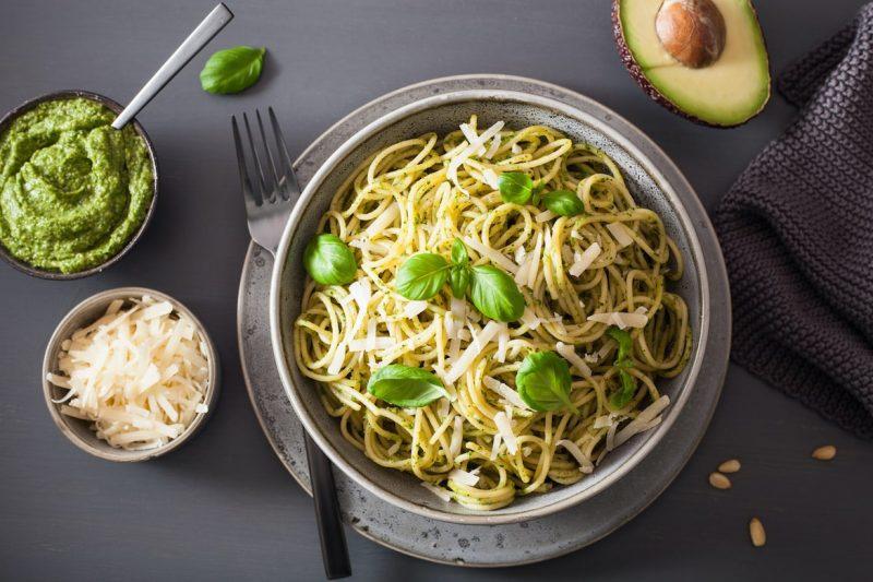 Spinach Fettuccine with No-Cook Avocado Cream