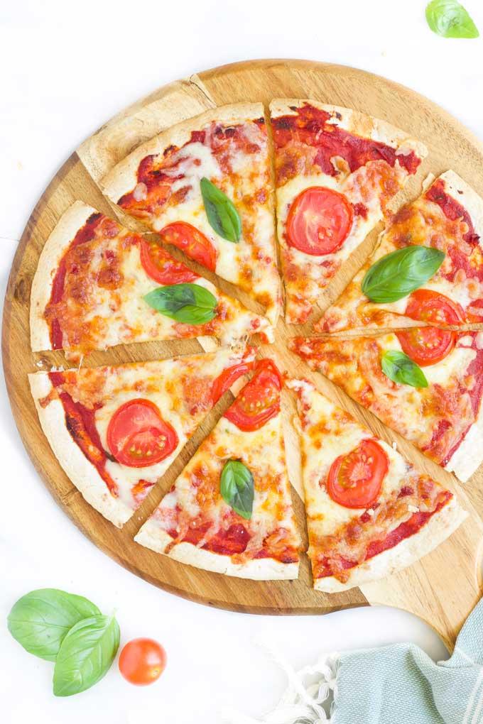 Pizza on Tortilla -