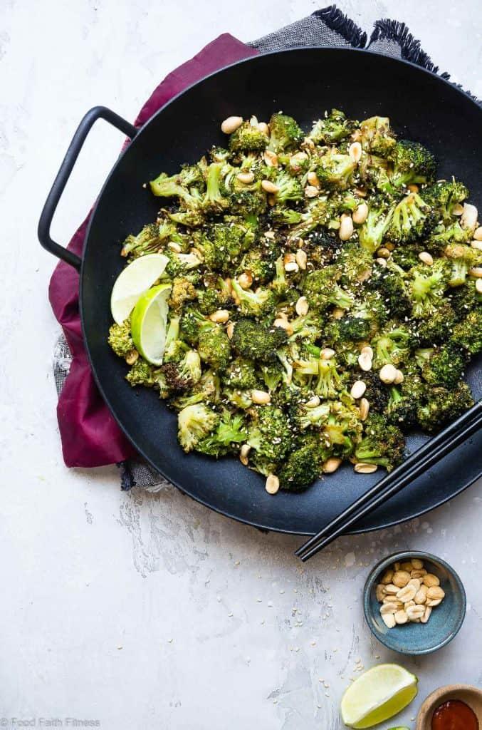Keto Air Fryer Roasted Asian Broccoli Recipe