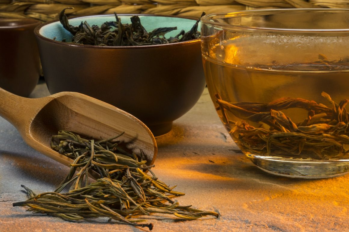 An infusion of Chinese green tea