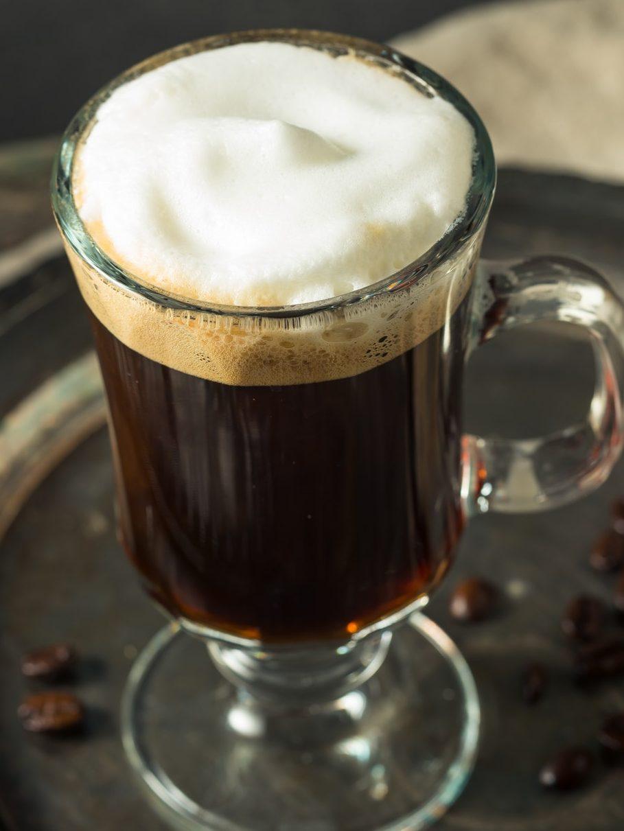 Boozy Warm Irish Coffee Cocktail