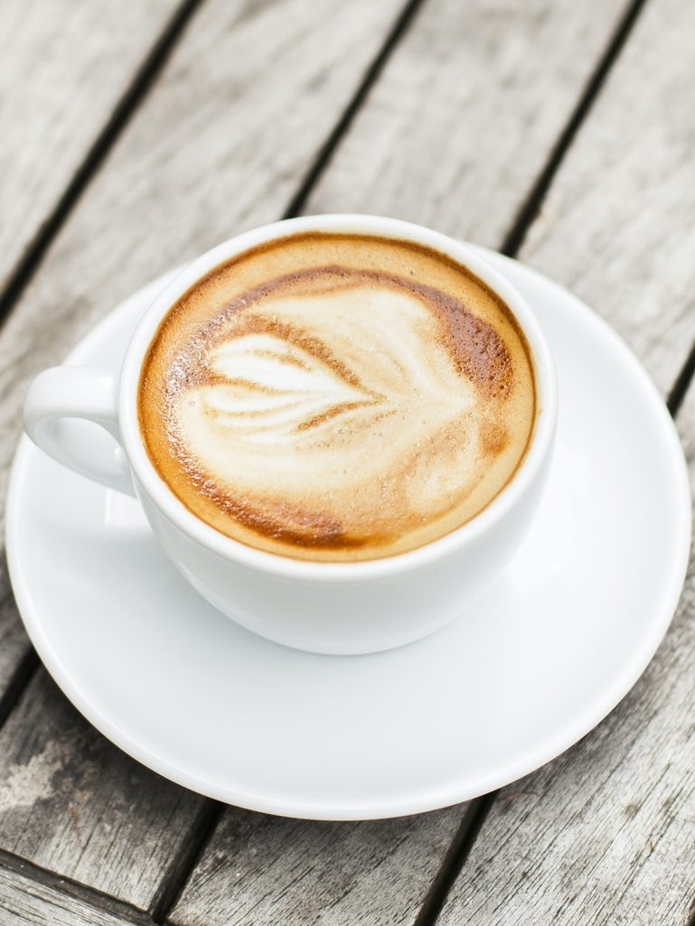 Cup Of coffee with latte art