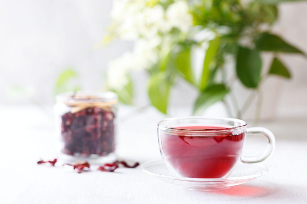 Cup of hibiscus tea