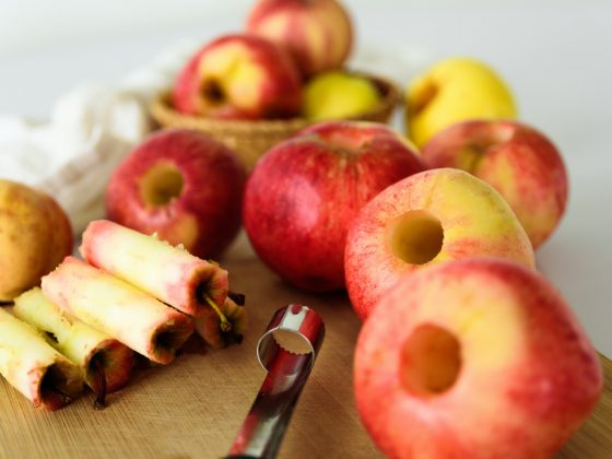 Fresh apples without core