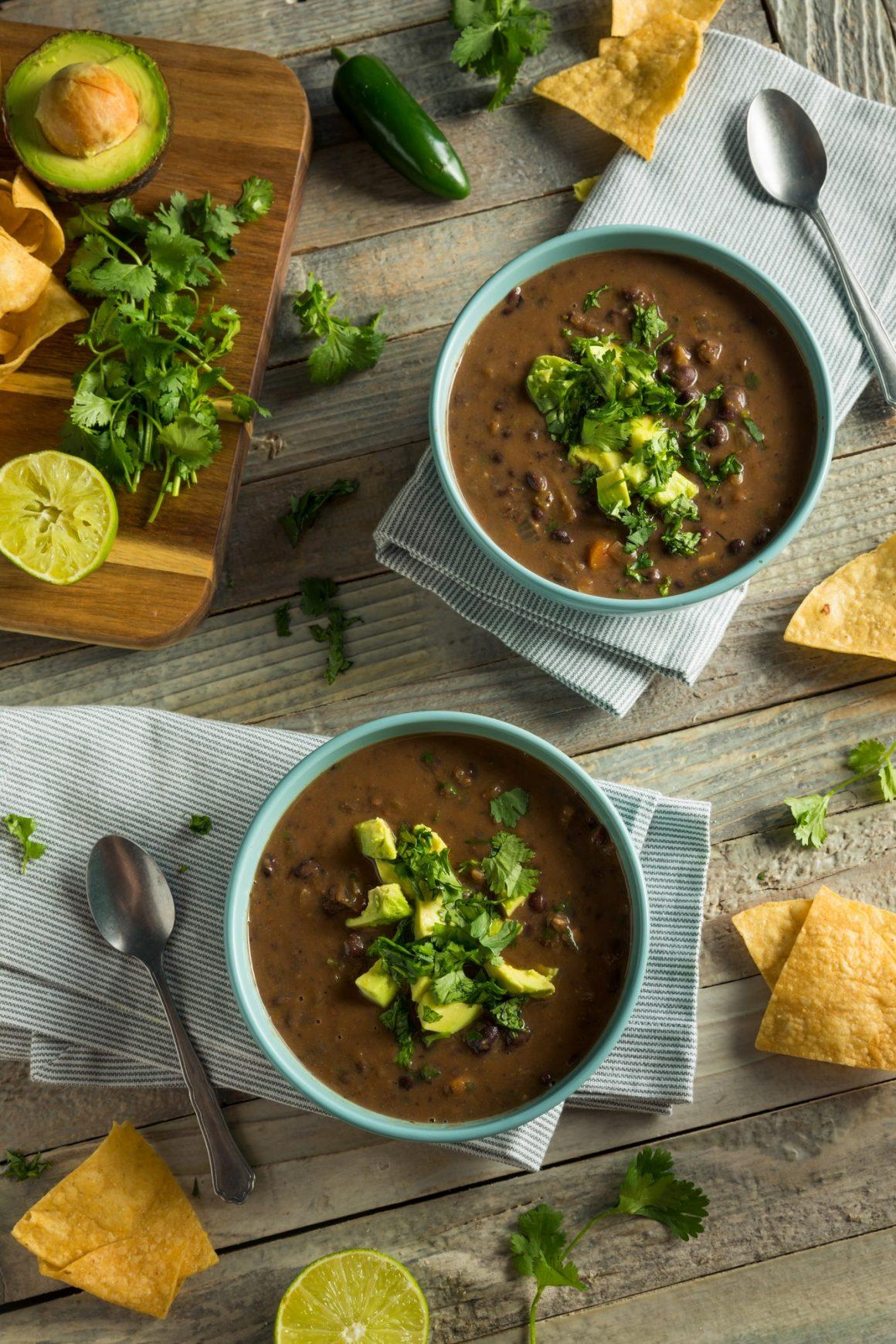 Fresh Homemade Black Bean Soup
