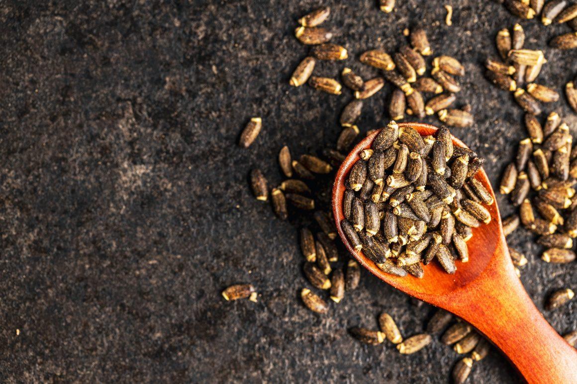 Milk thistle seeds.