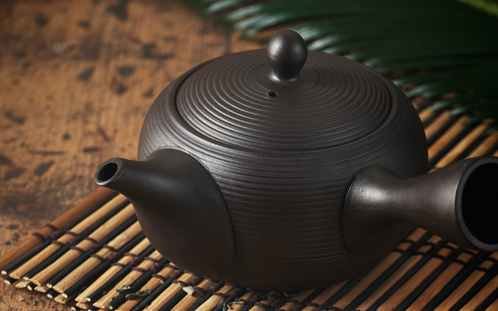 Tea pot, Kyusu, used in making japanese sencha green tea.
