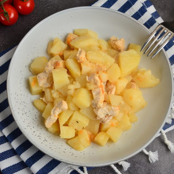 turkey hash with potatoes