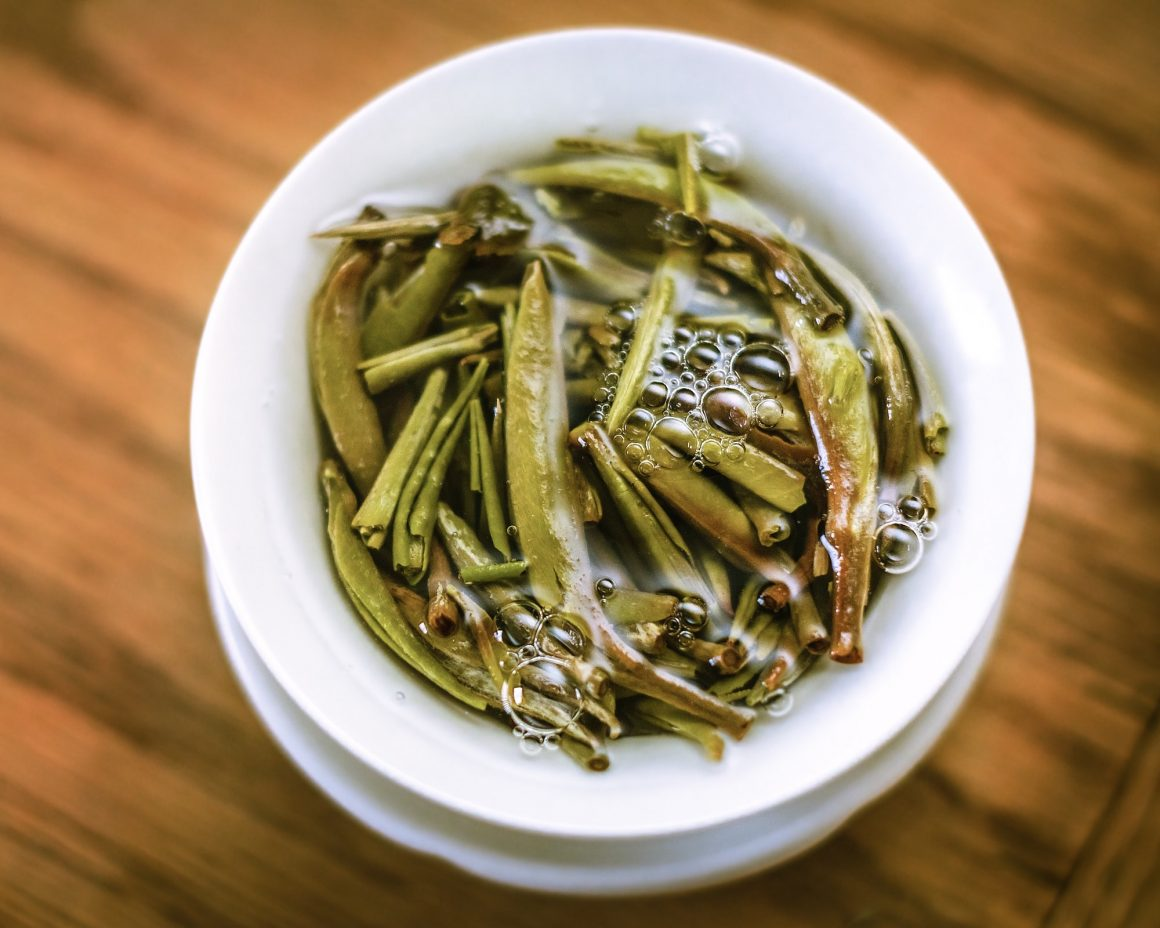 Silver Needle White Tea Leaves, ready to drink....Yum!!