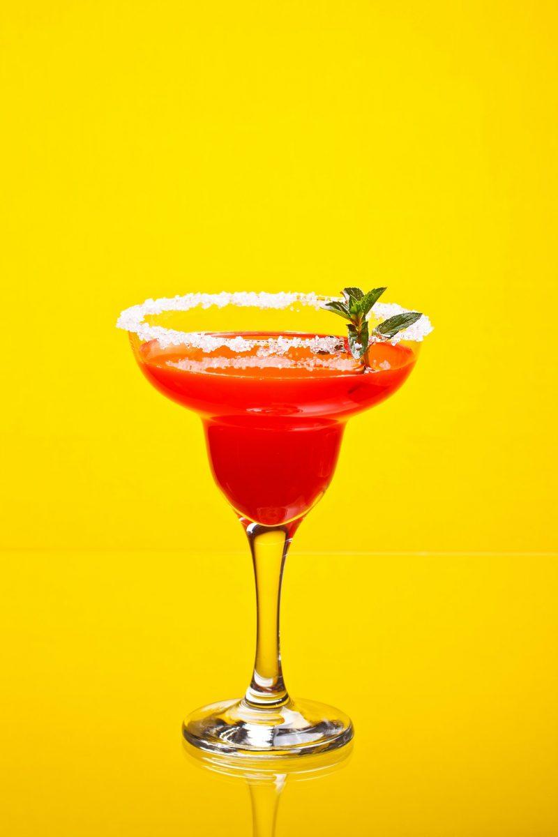 Watermelon martini drink